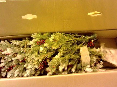 Lot 11028 BOXED ALISON CORK SUGAR SPRUCE CHRISTMAS TREE