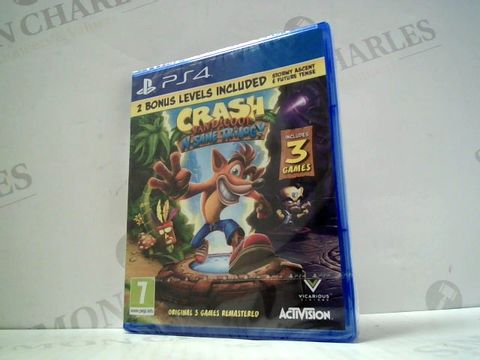 Lot 3146 CRASH BANDICOOT N'SANE TRILOGY PLAYSTATION 4 GAME