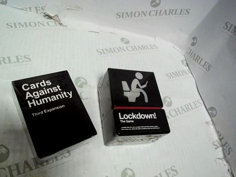 Lot 47 CARDS AGAINST HUMANITY & LOCKDOWN! THE GAME BUNDLE   17+