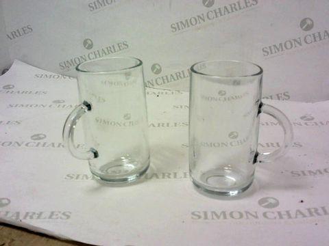 Lot 7239 ENTERTAIN SET OF 2 TALL GLASS MUGS RRP £14.99