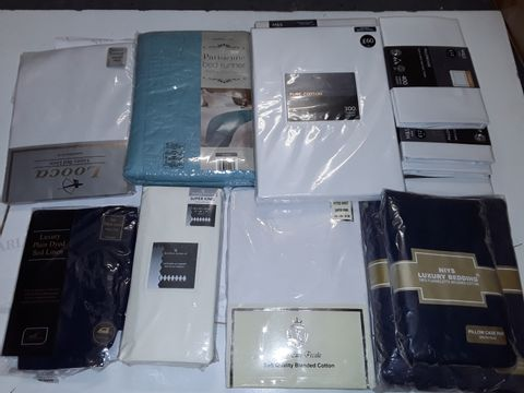 Lot 8327 LARGE QUANTITY OF ASSORTED HOME FABRIC ITEMS TO INCLUDE BEDDING, TOWELS AND CURTAIN TIE BACKS