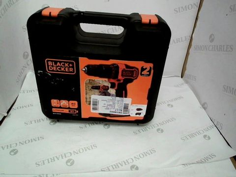 Lot 6 BLACK+DECKER 18 V CORDLESS 2-GEAR COMBI HAMMER DRILL POWER TOOL WITH KITBOX, 1.5 AH LITHIUM-ION