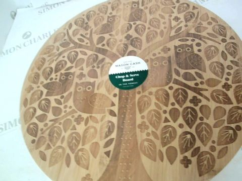 Lot 5052 IN THE FOREST ROUND CHOPPING/SERVING BOARD RRP £19.99