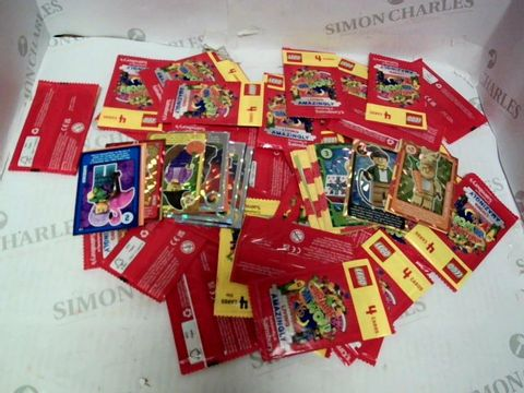 Lot 85 LEGO LIVING AMAZINGLY TRADING CARD GAME APPROX 39 UNOPENED AND VARIOUS LOOSE