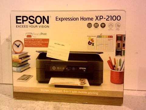 Lot 1208 EPSON EXPRESSION HOME XP-2100 WIFI ENABLED COLOUR PRINTER