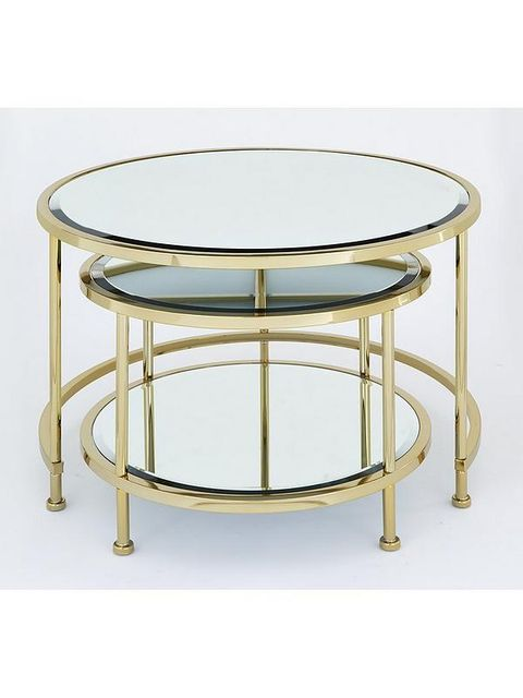 Lot 5082 BOXED ARUBA NEST COFFEE TABLES- GOLD