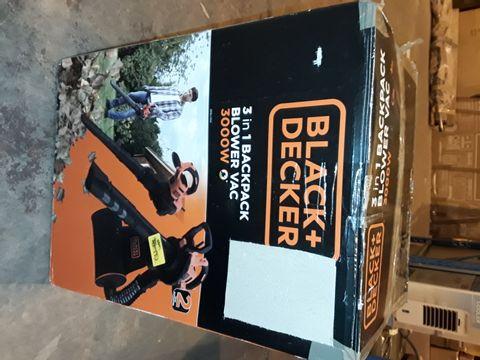 Lot 2264 BLACK & DECKER 3 IN 1 3000W BACKPACK BLOWER VAC