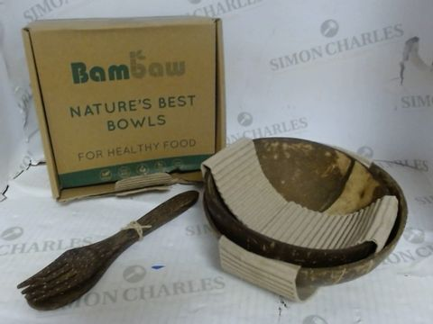 Lot 918 BAMBAW NATURE'S BEST BOWLS - COCONUT BOWLS