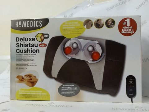 Lot 16323 BOXED HOMEDICS DELUXE SHIATSU CUSHION WITH HEAT
