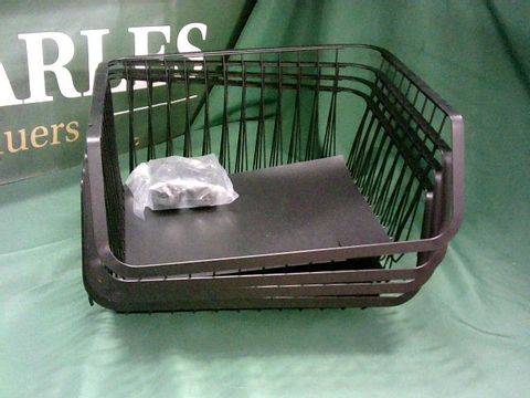 Lot 4109 4 STACKING BLACK BASKETS WITH WHEELS