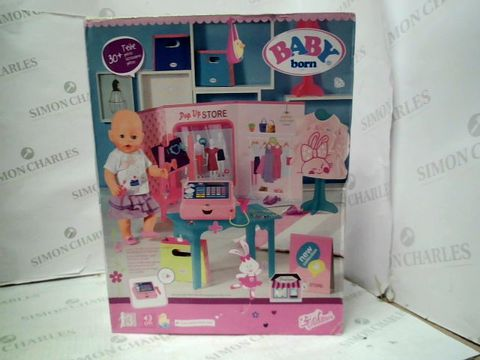 Lot 125 BABBY BORN POP UPN STORE WITH ACCESSORIES