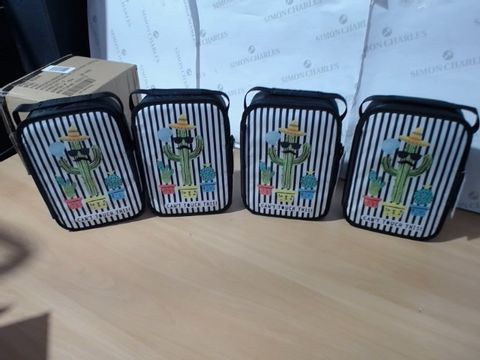 Lot 1104 4 BRAND NEW GEORGE HOME CACTUS INSULATED LUNCH BAGS (1 BOX)