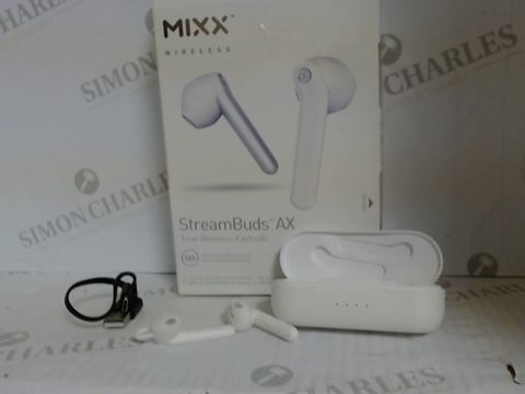 Lot 790 MIXX AUDIO STREAM BUDS AX TRUE WIRELESS EARBUDS - WHITE