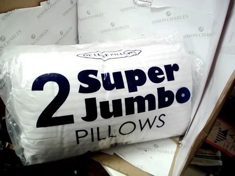 Lot 10306 DELUXE PILLOWS SET OF 2 SUPER JUMBO PILLOWS