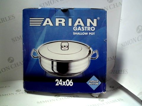 Lot 7633 BOXED ARIAN GASTRO SHALLOW POT