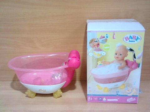 Lot 1027 BABY BORN INTERACTIVE BATHTUB WITH FOAM RRP £63.00