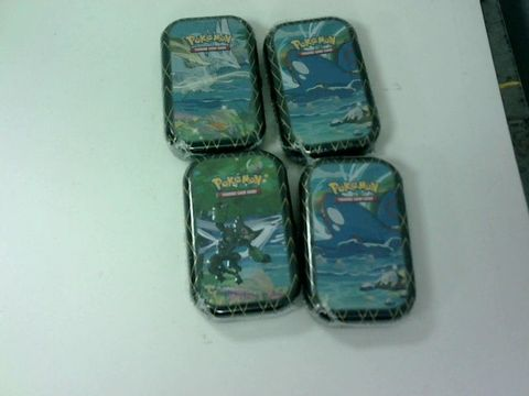 Lot 6045 LOT OF 4 ASSORTED POKEMON TRADING CARD TINS