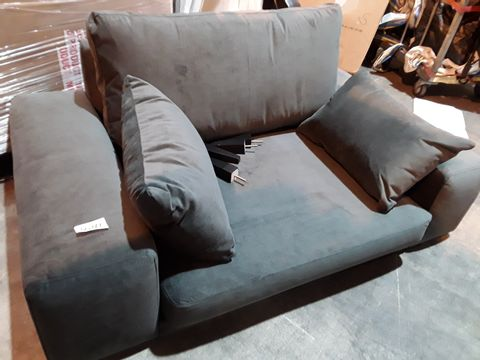 Lot 3041 DESIGNER CHARCOAL FABRIC SNUGGLE CHAIR