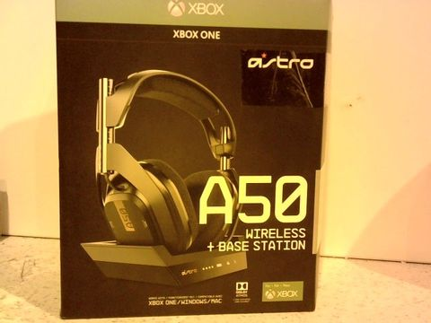 Lot 11653 ASTRO A50 WIRELESS HEADPHONES AND BASE STATION FOR XBOX ONE