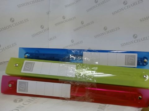Lot 9032 EXACOMPTA IDERAMA PP SEMI-RIGID COVER RING BINDER, A4 MAXI, 4 RINGS, 40 MM SPINE - ASSORTED COLOURS, PACK OF 3