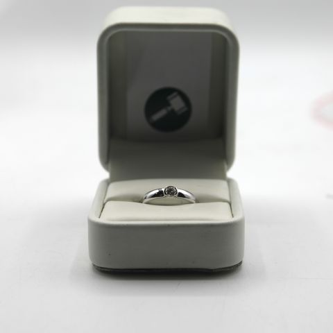 Lot 8 DESIGNER 18ct WHITE GOLD DIAMOND SET RING