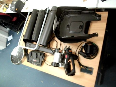 Lot 11524 BOX OF ASSORTED GARDEN TOOL PARTS