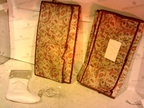 Lot 2446 LOT OF 3 ASSORTED HOUSEHOLD ITEMS - STOCKING AND 2 SHOE ORGANIZERS