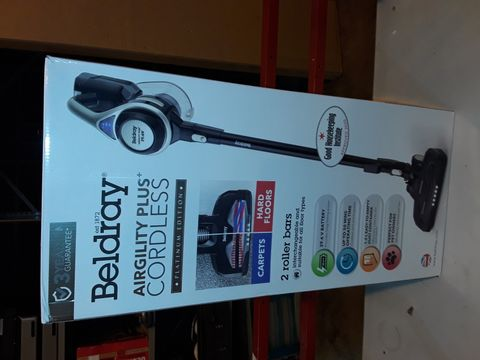 Lot 1117 BELDRAY AIRGILITY + CORDLESS VACUUM CLEANER