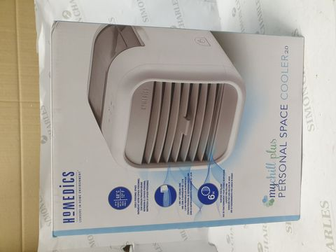 Lot 15168 BRAND NEW BOXED HOMEDICS MY CHILL PLUS PERSONAL SPACE COOLER 2.0
