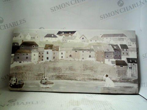 Lot 1843 HANNAH COLE CANVAS PRINT HARBOUR SCENE