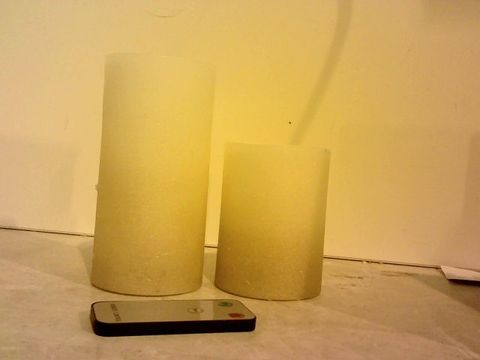 Lot 1536 HOME REFLECTIONS SET OF 2 FLAMELESS OMBRE CANDLES