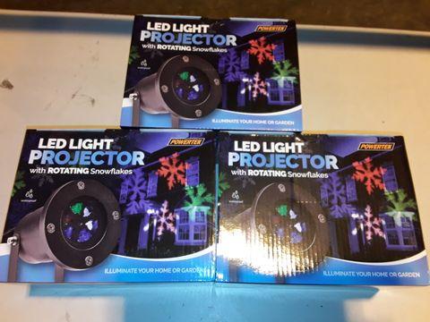 Lot 3219 LOT OF 3 LED SNOWFLAKE PROJECTORS (3 BOXES)