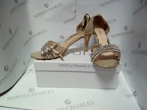 Lot 13093 BOXED PAIR OF DESIGNER QUIZ HEELS - UK SIZE 10