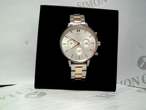 Lot 9046 MVMT NOVA WHITE AND ROSE GOLD DETAIL WRISTWATCH  RRP £179.00