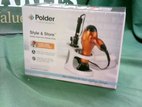 Lot 1321 POLDER STYLE AND STORE HOT HAIR STYLING TOOL STORAGE