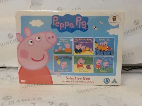 Lot 12 PEPPA PIG - SELECTION BOX DVD (SEALED) RRP £35.00
