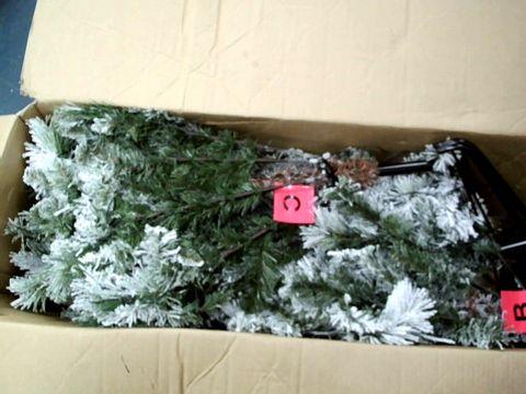 Lot 11048 WE R CHRISTMAS 7FT SLIM FLOCKED SPRUCE TREE
