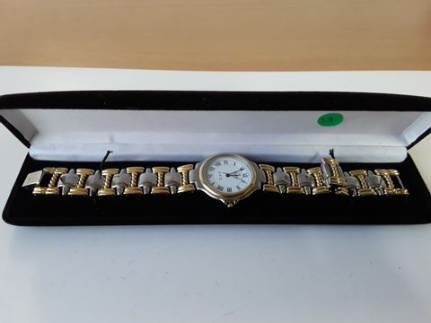 Lot 9247 LIMIT QUARTZ A V R GOLD/SILVER STRAP