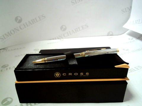 Lot 575 CROSS CHROME GOLD COVENTRY PEN RRP £57.99