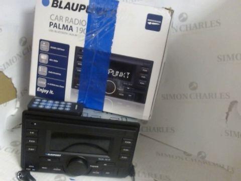 Lot 7551 BLAUPUNKT CAR RADIO PALMA 190 BT