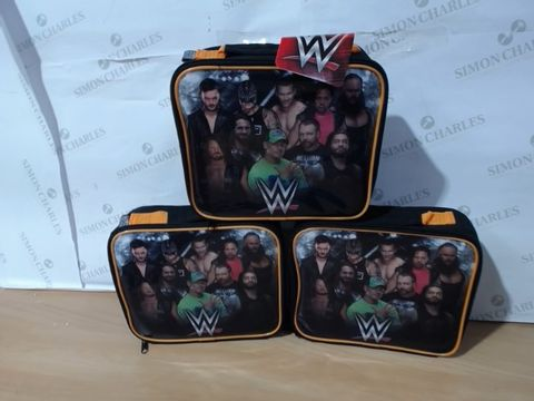 Lot 1114 3 BRAND NEW WWE LEGENDS LUNCH BAGS (1 BOX)