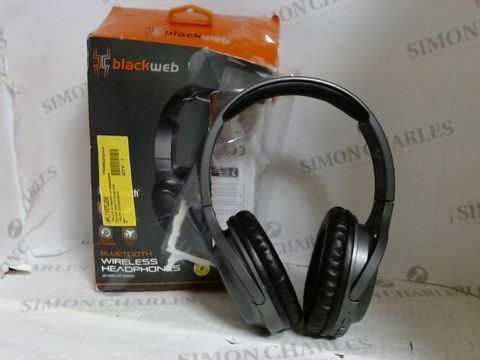 Lot 7174 BLACKWEB BLUETOOTH WIRELESS HEADPHONES - BLACK