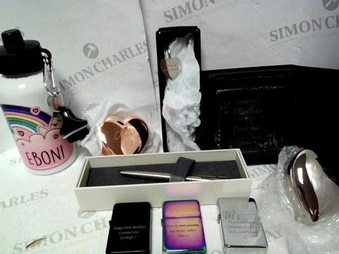 Lot 9508 A BOX OF ASSORTED PERSONAILISED GIFT ITEMS RRP £156.97