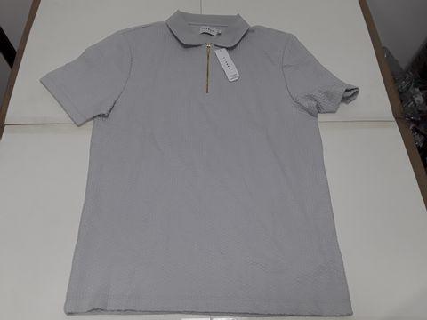 Lot 4144 TOPMAN POLO T-SHIRT IN OFF WHITE - XL