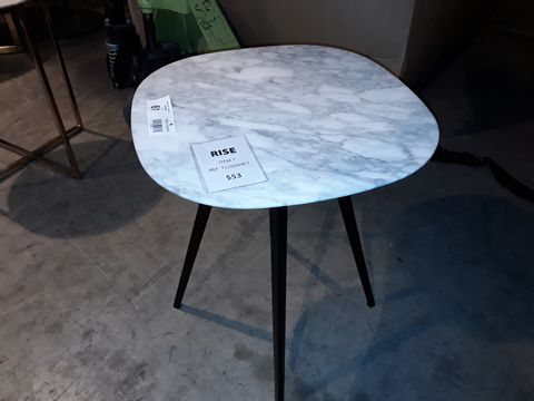 Lot 61 DESIGNER WHITE ONYX TOPPED SIDE TABLE