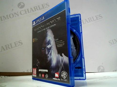 Lot 8019 SHADOW OF MORDOR PLAYSTATION 4 GAME