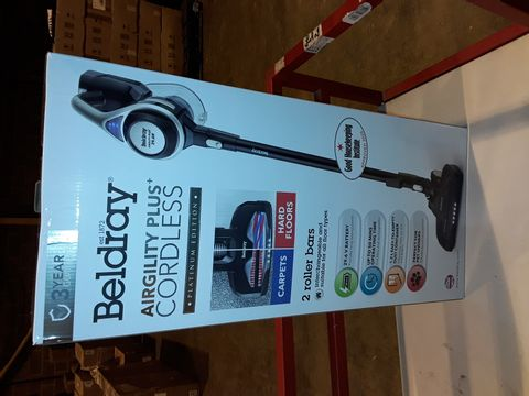 Lot 3262 BELDRAY AIRGILITY + CORDLESS VACUUM CLEANER