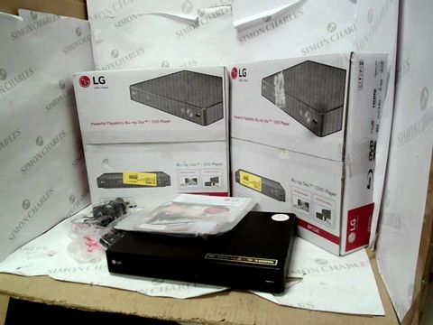 Lot 12108 LOT OF 2 LG POWERFUL PLAYABILITY BLU-RAY DISC/DVD PLAYERS