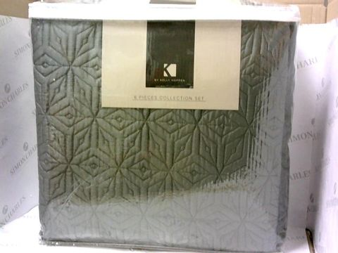 Lot 8056 K BY KELLY HOPPEN GEOMETRIC DIAMOND BEDDING COLLECTION