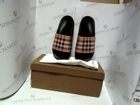 Lot 13063 BOXED PAIR OF DESIGNER BURBERRY SANDALS - UK SIZE 3